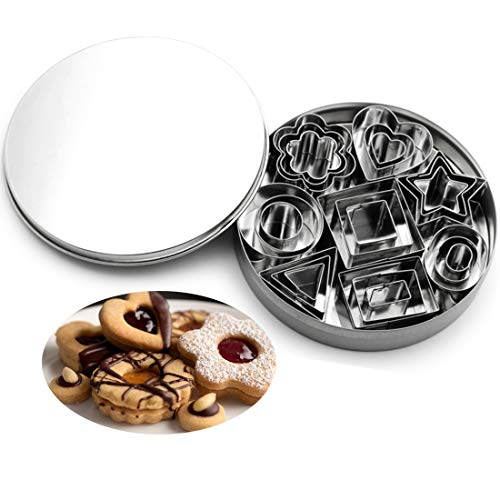 carinacoco Ausstecher Ausstechform Set 24 Stück Keks Plätzchen Fondant Ausstecher Edelstahl Ostern Keksform Keksausstecher