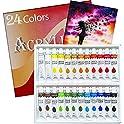 Ampela MELLONIC 24 Colors Acrylic Paint Set Tubes