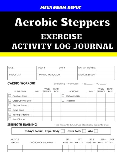 Aerobic Steppers Exercise Activity Log Journal