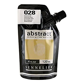 Sennelier Abstract Innovative Heavy Body Acrylic Paint 120ml Pouch Iridescent Gold