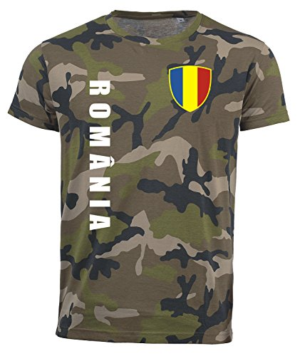 aprom Rumänien T-Shirt Camouflage Trikot Look Army Sp/A Romania (S)