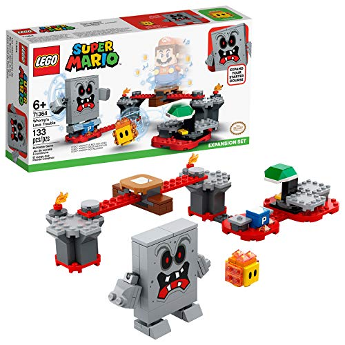 LEGO Super Mario Whomp?s Lava Trouble Expansion Set 71364 Building Kit; Toy for Kids to Enhance Their Super Mario Adventures with Mario Starter Course (71360), New 2020 (133 Pieces)