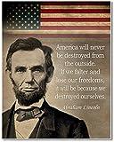 Abraham Lincoln Kunstdruck Zitat – 28 x 35 cm ungerahmt