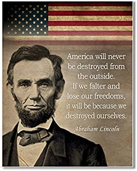 Abraham Lincoln Art print quote - 11 x 14 Unframed Wall Art Print - Great historic quote