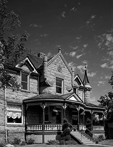18 x 24 Black & White Canvas Wrapped Print of Historic House in Portabello Idaho n30 1993 Highsmith