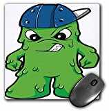 3dRose LLC 8 X 8 X 0.25 Inches Silly Booger Monster with Attitude Mouse Pad (mp_102245_1)