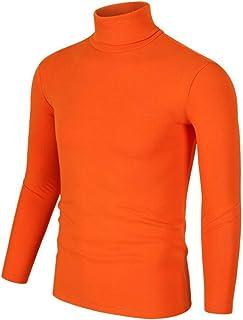 Nanquan Men Slim Fit Lightweight Long Sleeve Top Turtleneck T-Shirt Tee
