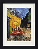 1art1 Vincent Van Gogh - Terraza De Café por La Noche, Place Du Forum, Arlés, 1888 Póster De Colección Enmarcado (40 x 30cm)