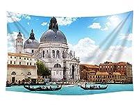 壁のタペストリー 風景タペストリー - ヴェネツィアの建物川サンシャイン青空雲ボート - 装飾壁掛けタペストリー 間仕切り おしゃれ インテリア 寝室 カーテン 部屋飾り 新築お祝い 結婚お祝い プレゼント 横230cm×縦150cm
