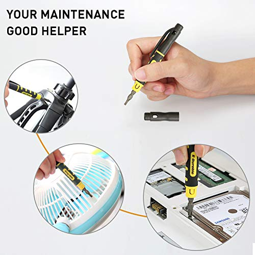 SOONAN Precision Screwdriver Set, 2Pcs 4-in-1 Pocket Screwdriver Multi Tool, Magnetic Pen Style Slotted Screwdriver Repair Kit for iPhone/iPod/Phillips/Eyeglasses/Electronics Toys …