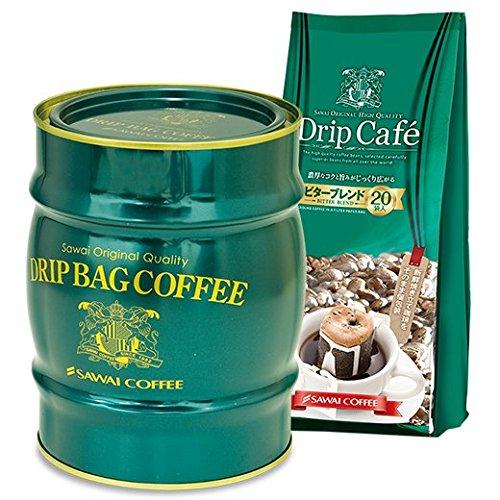澤井珈琲 コーヒー専門店 樽缶ドリップバッグセット 緑樽缶