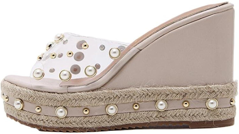 einem mit Hang Perle Nieten Sommer Wort GHFDSJHSD Schuhe