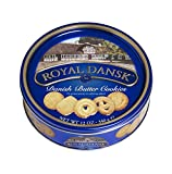 Royal Dansk Danish Butter Cookies, 12 Ounce Tins (Pack of 4)