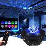 proyector estrellas con Altavoz Bluetooth&21 Modos,Proyector de Luz Estelar galaxia con Control Remoto &Temporizador,Dormitorios Perfecto Regalo para Infantil Adultos,Navidad,halloween