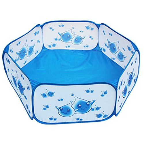 Bola de Piscina para niños, Tela de poliéster 190T Infantil Marina Ball Pool, Azul Gota de Agua Piscina, Valla de Seguridad del bebé, bebé Plegable de Almacenamiento Game House, Adecuado para niños