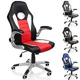 TRESKO Silla de oficina Racing Gaming giratoria, escritorio ordenador, 4 colores diferentes,...