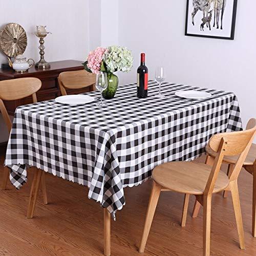 XXDD Idílico Juego de Mesa de Picnic de celosía Rectangular Mantel Restaurante Boda Comedor Fiesta Cubierta de Mantel Exterior A1 140x200cm