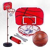 knowledgi Canasta de baloncesto portátil con altura ajustable de 80 a 170 cm, con soporte para interiores para niños, regalo de cumpleaños para niños