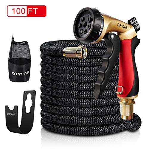 Crenova 100ft Garden Hose Upgraded Expandable Hose with Double...