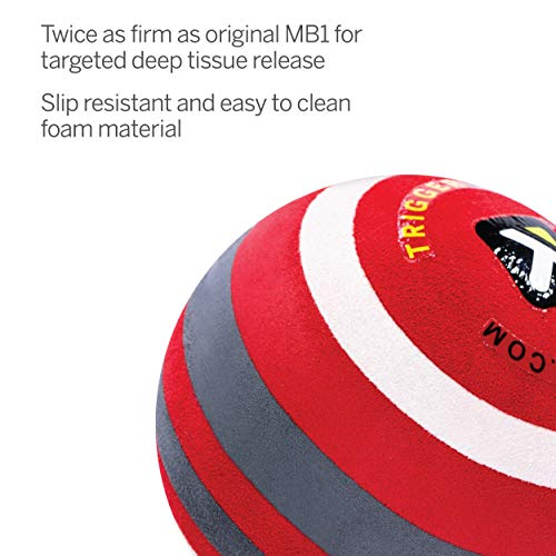 【日本正規品】トリガーポイント(TRIGGERPOINT)マッサージボールMB-X硬質モデル筋膜リリースストレッチボール直径6.5cmレッド04421