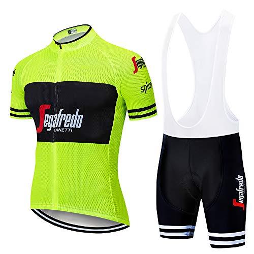 MTBHW Herren Radtrikot Sommer Fahrradbekleidung Set Schnelltrocknend Trikot Kurzarm und Radhose