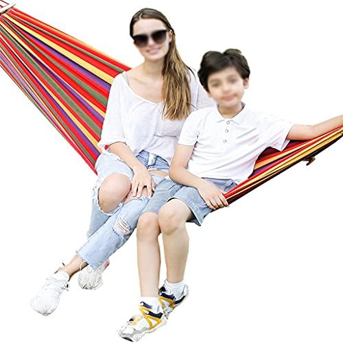 Hamacas Para 2 Personas, Aire Libre, Lona A Rayas, Perezosa En Daze, Viaje Camping Senderismo Terraza Jardín, Capacidad De Carga 250 Kg (Size : 200cm*100cm)