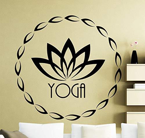 wopiaol Silhouette Wandaufkleber Esel Tapete Wandkunst Lotusblume Sport Fitness Symbol Home 74X74Cm