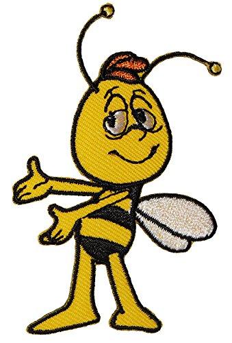 alles-meine.de GmbH Willi - 5,2 cm * 7,5 cm - Bügelbild / Aufnäher Applikation - Kinder die Biene Maya - Honigbiene Biene - Honig
