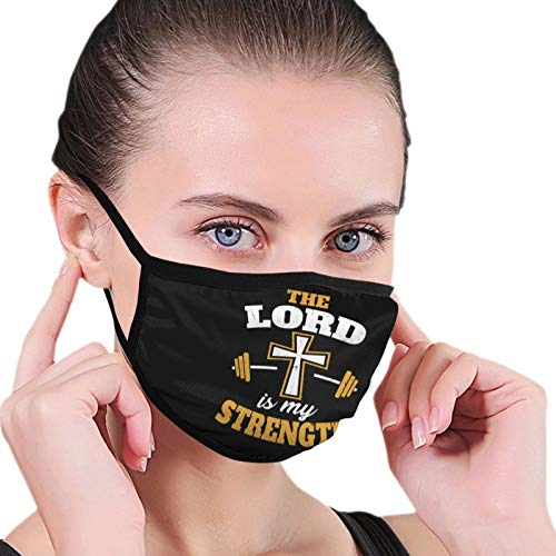Unisex Face Mouth Mask Christian Fitness Workout Religious Outdoor Dust Mask for Camping Travel Anti-Dust Black