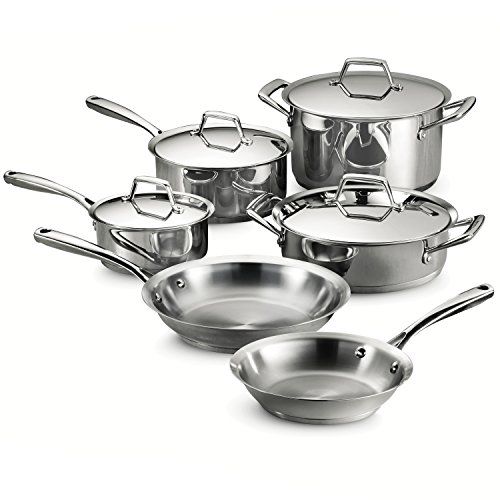 Tramontina Gourmet Prima Stainless Steel 10 Pc Cookware Set