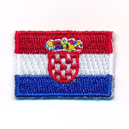 30 x 20 mm Kroatien Flagge Zagreb Aufnäher Aufbügler Patch 0917 Mini