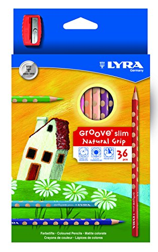LYRA Groove slim 36-er Kartonetui mit Spitzer, Sortiert