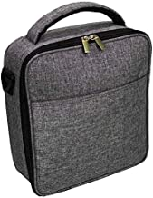 UPPER ORDER Durable Insulated Lunch Box Tote Reusable Cooler Bag 25 Percent Larger Storage (Charcoal Gray)