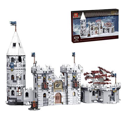 BGOOD Bausteine Haus Bausatz, 2217 Klemmbausteine Modular Winterfell Schloss Stadthaus für Game of Thrones, Architektur Häuser Modell Kompatibel mit Lego