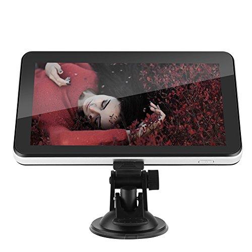 GPS Voiture Navigation, 7 Pouces Écran Tactile Navigateur de Voiture Portable 128M 8GB FM avec Europe 48 à Vie Mises à Jour Gratuites de la Carte Système de Navigateur pour Voiture.(noir)