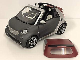 43/Model Smart fortwo Cabrio A453/Titania Gris mat//rouge Mod/èle voiture Collection 1