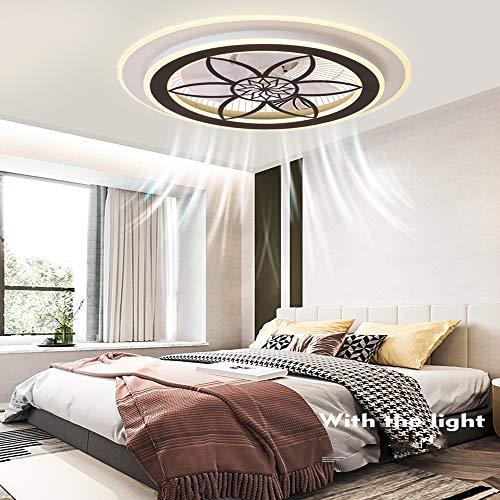 Ventilador De Techo SMG Con Luz Y Control Remoto, 3 Velocidades, 3 Tipos De Regulables, Lámpara De Techo Para Dormitorio Y Sala De Estar, Silenciosa, Moderna, Ahorro De Energía