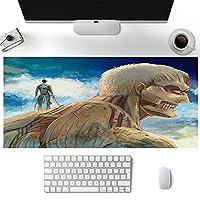 巨大な大きなデスクパッドへの攻撃PCパッドスーパーゲーミングマウスパッドファッション防水耐久性滑り止めオフィスゲーム-アニメA_800*300*3