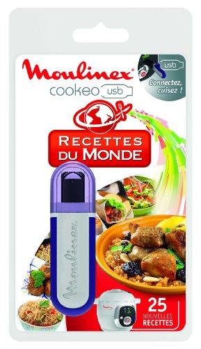 Moulinex Clé USB de 25 Recettes Du Monde XA600111 Accessoire Cookeo Officiel Compatible avec Multicuiseurs Cookeo YY2943FB CE702100
