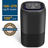 JETERY Air Purifier Home CADR 102 with True HEPA & Active Carbon Filters, 48W Air Cleaner with Silentnight Light, Home Air Filtration for Allergies, Dust, Pollen, Pets Dander, Smoker, Cooking, JT-8030