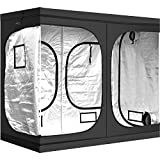 iPower 96'x48'x78' Hydroponic Water-Resistant Grow Tent with Removable Floor Tray for Indoor...