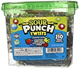 "Sour Punch Sour Punch Twists, 3"" Individually Wrapped Chewy Candy, 4 Fruity Flavors, 2.59 LB Jar, 210 Count by AmazonUs/AP6XP"