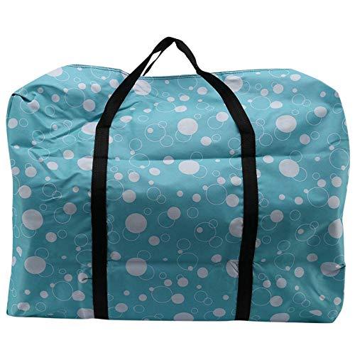 TOOGOO Bolsas de Lona Extragrandes de 100L para Hombres y Mujeres, Resistente Bolsa de Lona de Viaje Plegable Ligera Oxford-Burbuja