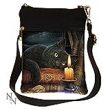 Nemesis Now Witching Hour Lisa Parker Schultertasche, 23 cm, braun, PU und Leinen, Einheitsgröße