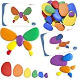 Rainbow Pebbles - LAD-208 - Sorting and Stacking Stones with Activity Cards - In Home Learning Toy for Early Math