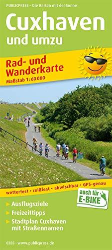 Cuxhaven und umzu (mit Stadtplan): Rad- und Wanderkarte mit Ausflugszielen, Einkehr- und Freizeittipps, mit Stadtplan (1:18500), wetterfest, ... 1:60000. (Rad- und Wanderkarte: RuWK)