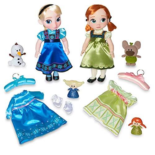 DS Disney Store - Juego de muñecas originales de Elsa y Anna, película Frozen de la...