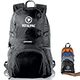 TotalPac - 35L Hiking Daypack Backpack - 11oz - Ripstop Nylon - 11 Pockets - Traveling & Hiking