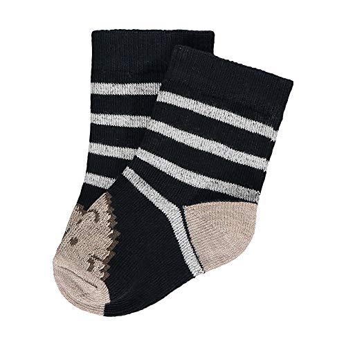 Steiff Baby-Unisex mit süßer Teddybärapplikation Socken GOTS, Navy, 014