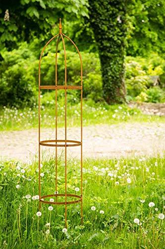 KUHEIGA Rankgerüst 10mm Rost Obelisk Rosenhilfe H: 200cm Rankhilfe